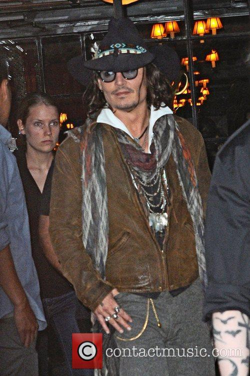 johnny depp seen exiting the bowery hotel 5916797