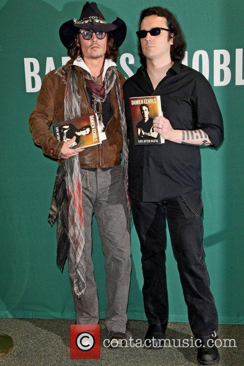 Johnny Depp, L, Damien Echols, Damien Echols In Conversation, With Johnny Depp, Barnes and Noble Union Square 5