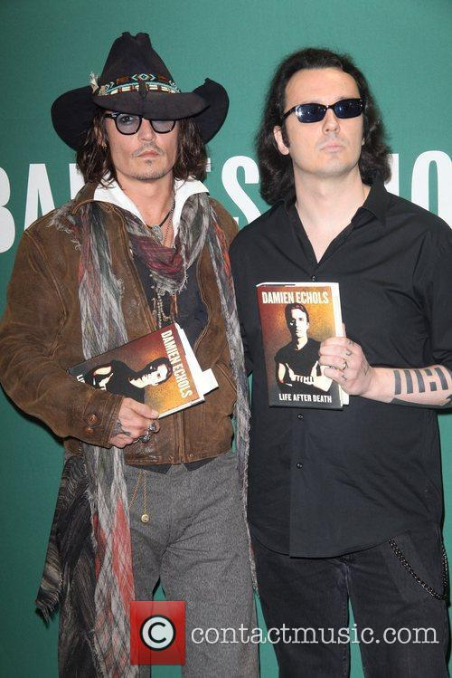 Johnny Depp, L, Damien Echols, Damien Echols In Conversation, With Johnny Depp, Barnes and Noble Union Square 6