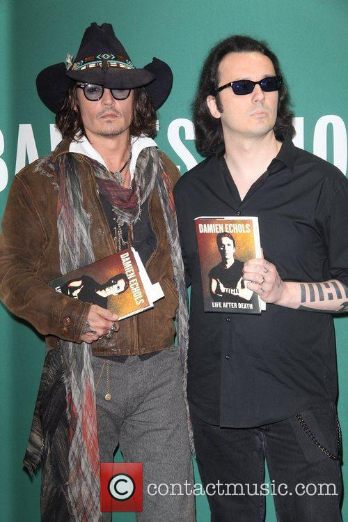 Johnny Depp, L, Damien Echols, Damien Echols In Conversation, With Johnny Depp, Barnes and Noble Union Square 7