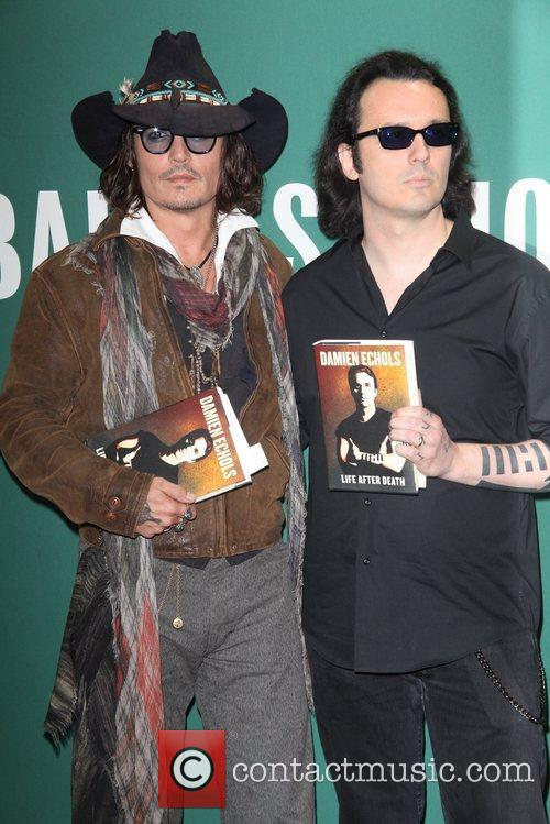 Johnny Depp, L, Damien Echols, Damien Echols In Conversation, With Johnny Depp, Barnes and Noble Union Square 8