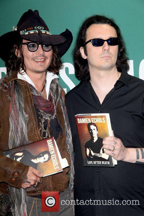 Johnny Depp, L, Damien Echols, Damien Echols In Conversation, With Johnny Depp, Barnes and Noble Union Square 1