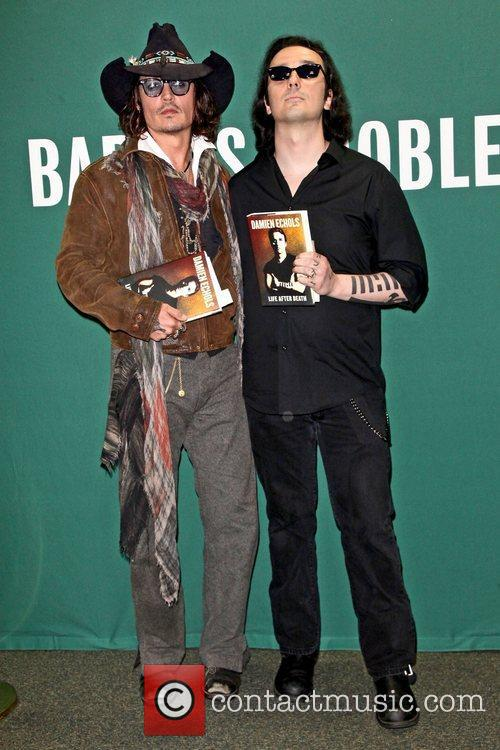 Johnny Depp, L, Damien Echols, Damien Echols In Conversation, With Johnny Depp, Barnes and Noble Union Square 4