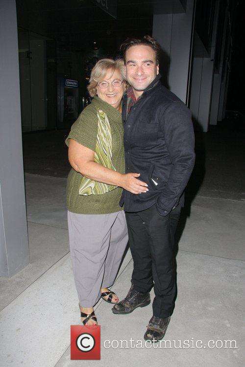 Johnny Galecki and his mother Mary Lou Galecki...