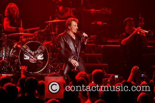 Johnny Hallyday performing at the Royal Albert Hall...