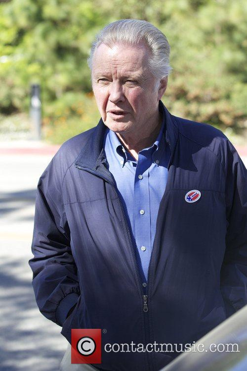 jon voight arriving at the polling station 5944994