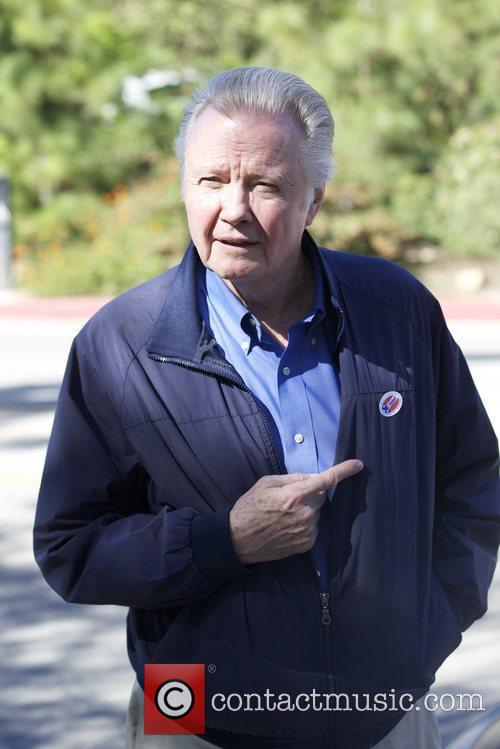 jon voight arriving at the polling station 5944995