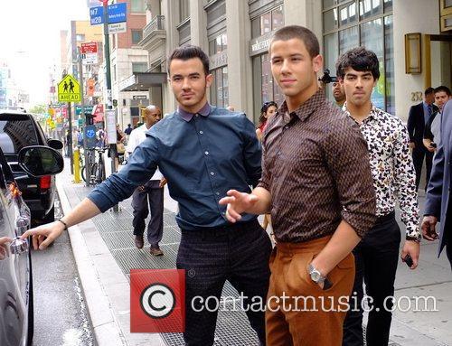 Kevin Jonas, Nick Jonas, and Joe Jonas of...