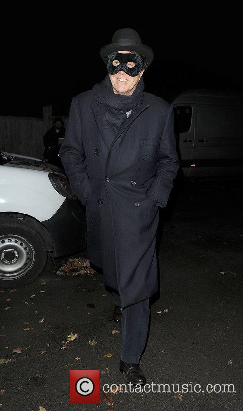 Bryan Ferry leaving a Halloween party held at...