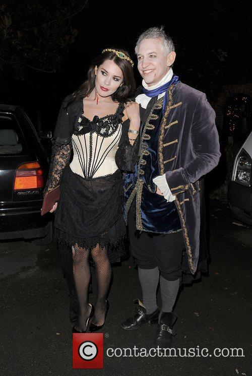 Danielle Lineker and Gary Lineker leaving a Halloween...