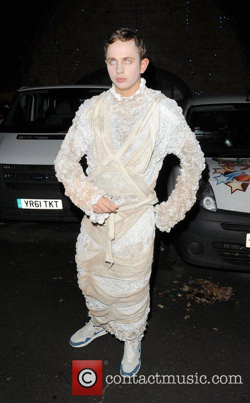 George Lineker leaving a Halloween party held at...