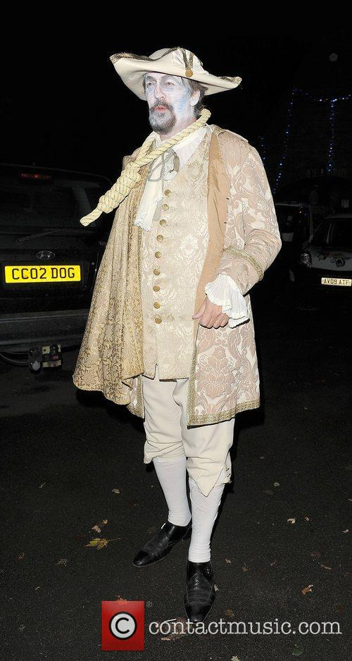 stephen fry leaving a halloween party held 4154818