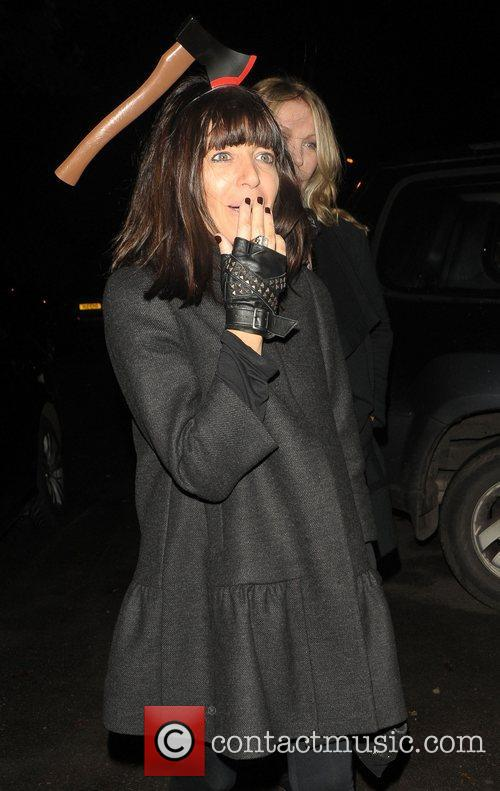 Claudia Winkleman leaving a Halloween party held at...