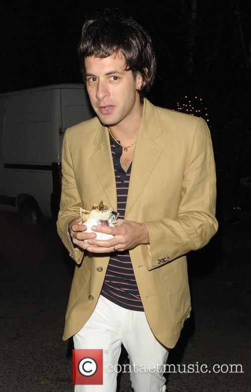 Mark Ronson leaving a Halloween party held at...