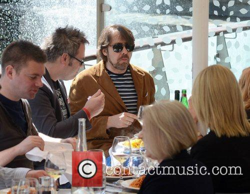 Jonathan Ross has lunch with friends at the...