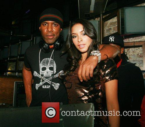 Dj Whoo Kid and Jessica Caban