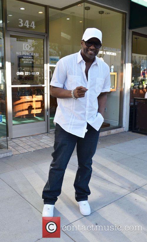 R&B artist Johnny Gill outside Jack and Jills...