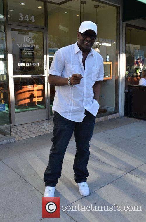 R&B artist Johnny Gill outside Jack and Jills...