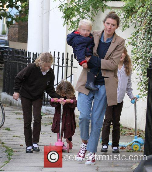 Jools Oliver and children  out and about...