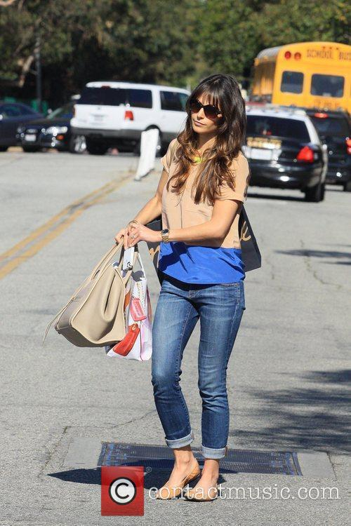 Jordana Brewster leaving a hair appointment in Beverly...