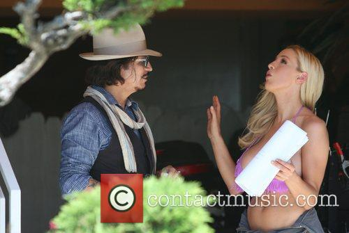 Jordan Carver and Johnny Depp 11