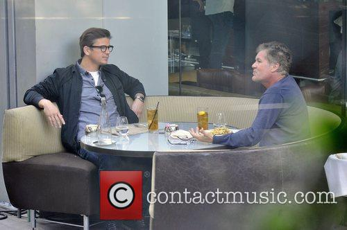 Josh Hartnett enjoys a meal at BOA in...