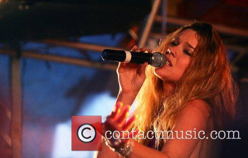 Joss Stone performs at Woodstock69 at Bloemendaal Beach...