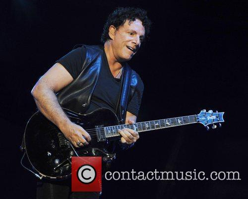 Journey performing live at the 1-800-Ask-Gary Amphitheatre