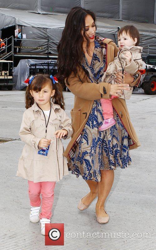 Myleene Klass and her daughters Hero and Ava...