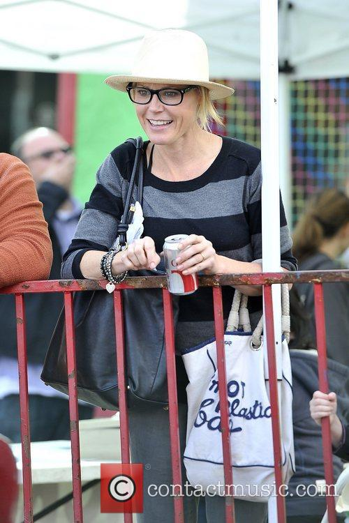 Julie Bowen enjoys a day with her sons...