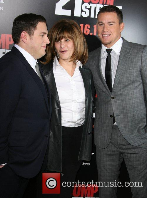 Jonah Hill, Amy Pascal and Channing Tatum