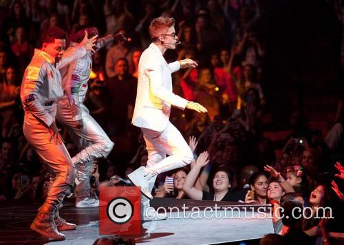 Justin Bieber Justin Bieber performs at the AT&T...