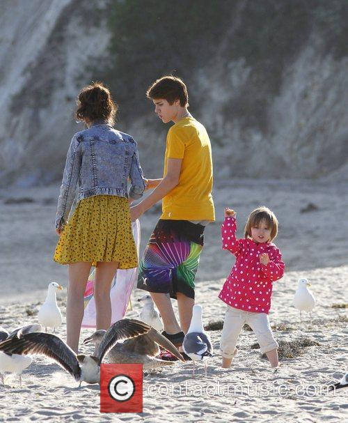 Justin Bieber, Selena Gomez and Malibu Beach 3