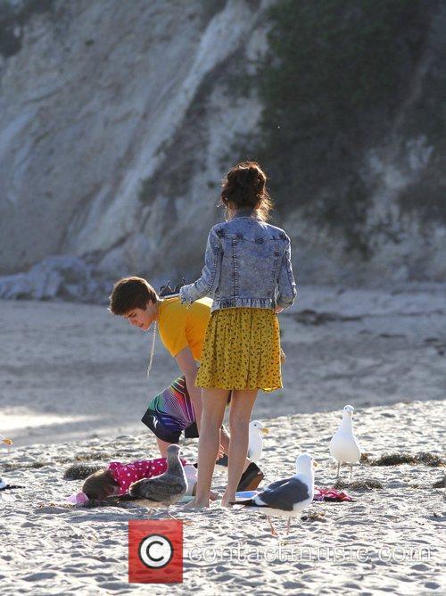 Justin Bieber, Selena Gomez and Malibu Beach 4