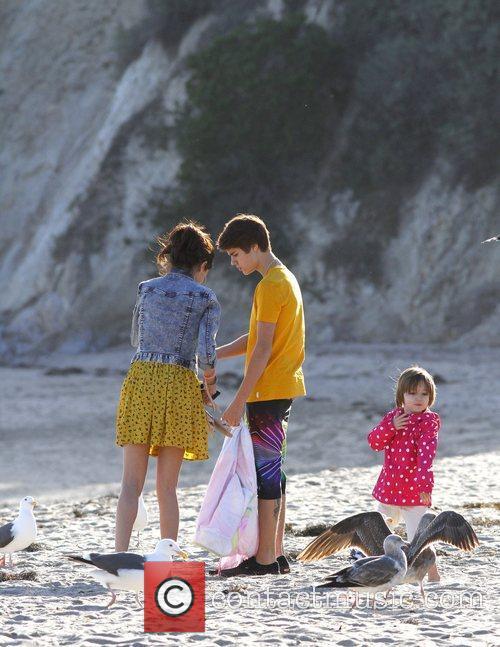 Justin Bieber, Selena Gomez and Malibu Beach 5