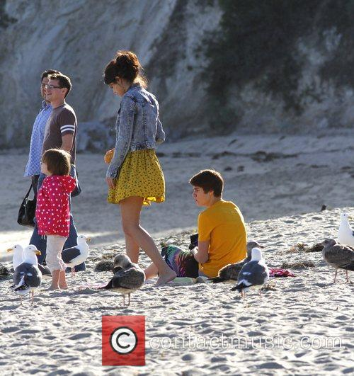 Justin Bieber, Selena Gomez and Malibu Beach 6