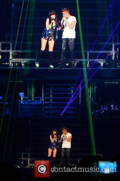 Supports Justin Bieber on his Believe tour at...