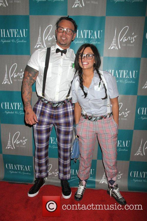 Roger Mathews, Jenni Jwoww Farley, Halloween, Chateau Nightclub, Gardens, Paris and Las Vegas 1