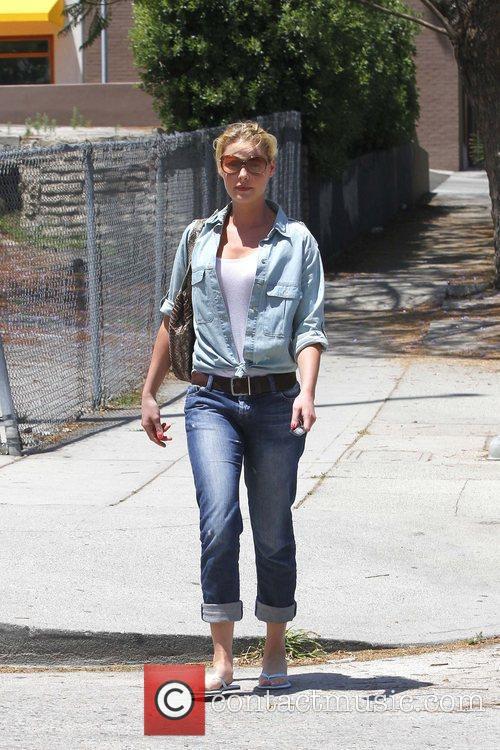 Katherine Heigl is seen leaving Little Dom's deli...