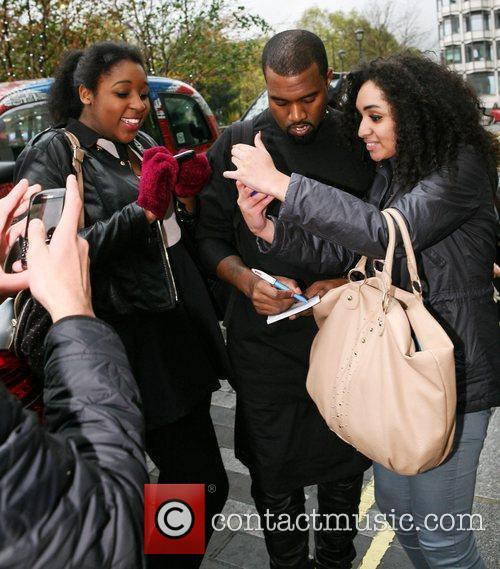 Kanye West arrives at his hotel London, England