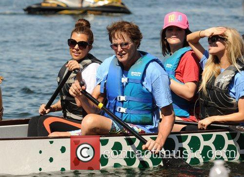 The Kardashian family competes in a drag boat...