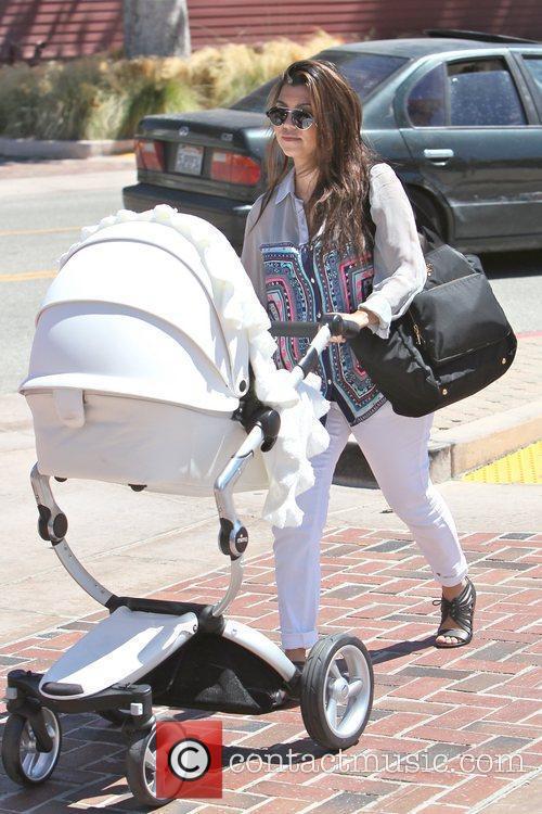 Kourtney Kardashian and her daughter Penelope Scotland Disick...