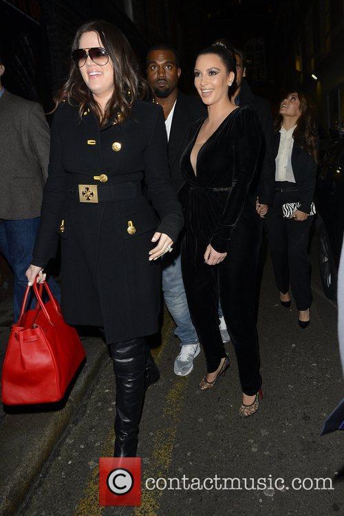 Kim Kardashian, Kanye West, Khloe Kardashian, Kourtney Kardashian, Scott Disick and Hakkasan 8