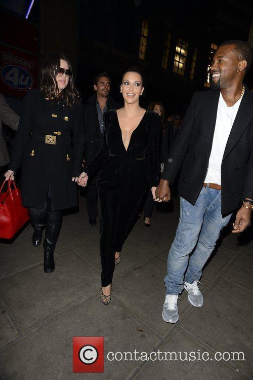 Kim Kardashian, Kanye West, Khloe Kardashian, Kourtney Kardashian, Scott Disick and Hakkasan 15