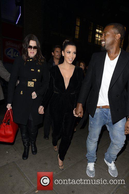 Kim Kardashian, Kanye West, Khloe Kardashian, Kourtney Kardashian, Scott Disick and Hakkasan 12