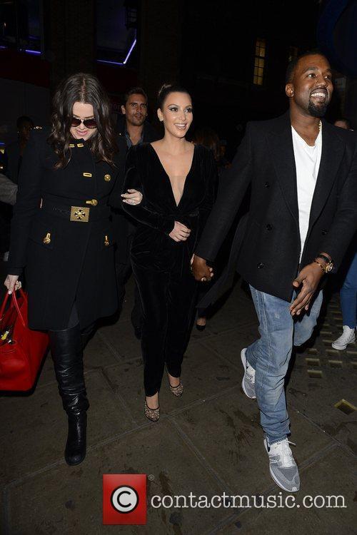 Kim Kardashian, Kanye West, Khloe Kardashian, Kourtney Kardashian, Scott Disick and Hakkasan 11