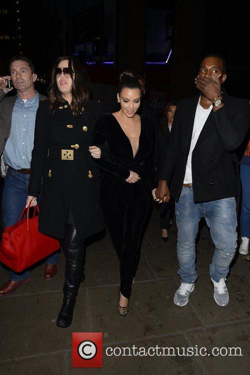Kim Kardashian, Kanye West, Khloe Kardashian, Kourtney Kardashian, Scott Disick and Hakkasan 18