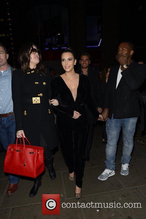 Kim Kardashian, Kanye West, Khloe Kardashian, Kourtney Kardashian, Scott Disick and Hakkasan 13