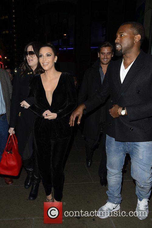 Kim Kardashian, Kanye West, Khloe Kardashian, Kourtney Kardashian, Scott Disick and Hakkasan 20