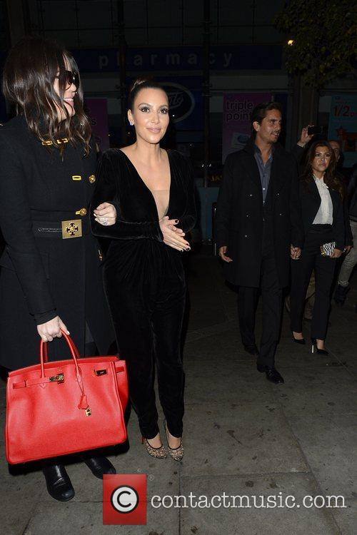 Kim Kardashian, Kanye West, Khloe Kardashian, Kourtney Kardashian, Scott Disick and Hakkasan 6